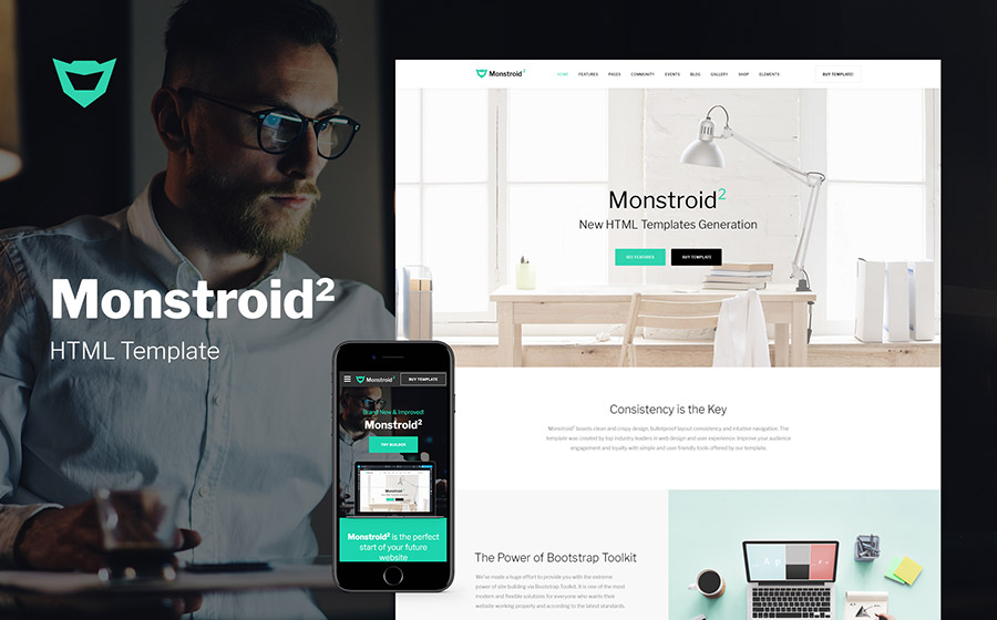 Monstroid2 Multipurpose Website Template