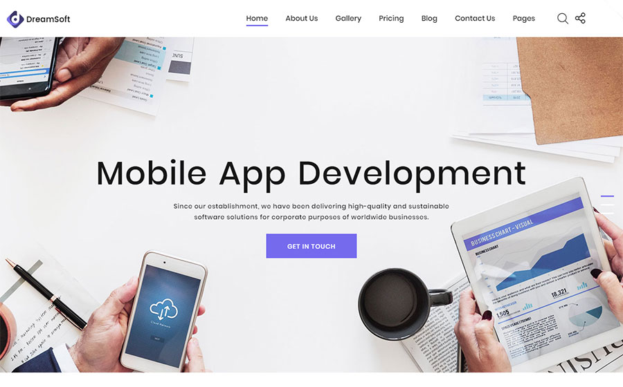 Web Development Multipage HTML Template
